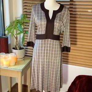 Tory Burch Knee Length 3/4 Sleeve Silk Dress